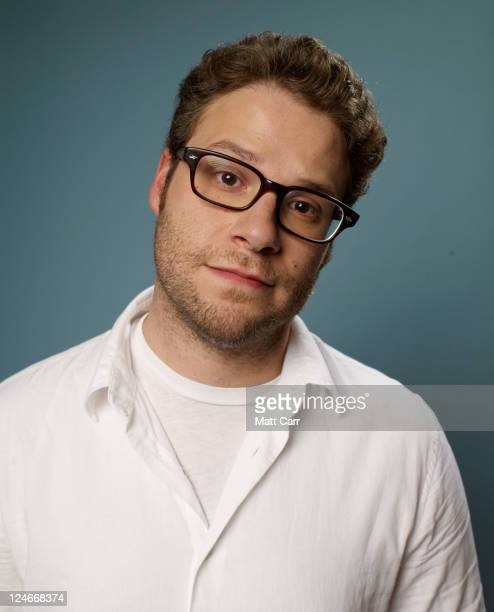 Actor Seth Rogen of 'Take This Waltz' poses during the 2011 Toronto Film Festival at Guess Portrait Studio on September 11 2011 in Toronto Canada