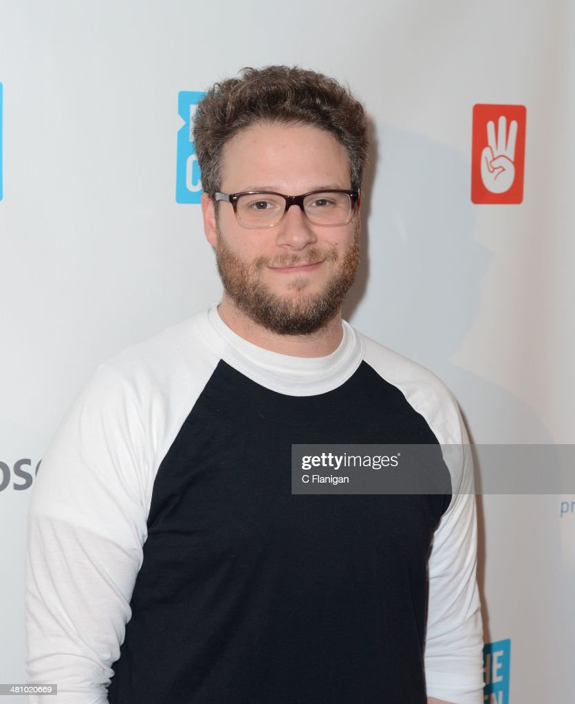 Actor <a gi-track='captionPersonalityLinkClicked' href=/galleries/search?phrase=Seth+Rogen&family=editorial&specificpeople=3733304 ng-click='$event.stopPropagation()'>Seth Rogen</a> poses backstage during the 1st Annual 'We Day' California at ORACLE Arena on March 26, 2014 in Oakland, California.