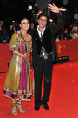 Actor Shah Rukh Khan and actress Kajol Devgan attend the 'My Name Is Khan' Premiere during day two of the 60th Berlin International Film Festival at...
