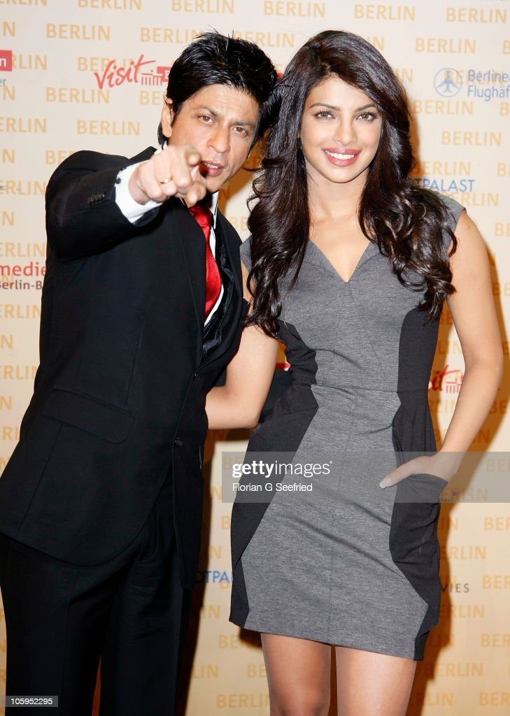 Actor <a gi-track='captionPersonalityLinkClicked' href=/galleries/search?phrase=Shah+Rukh+Khan&family=editorial&specificpeople=664337 ng-click='$event.stopPropagation()'>Shah Rukh Khan</a> and actress <a gi-track='captionPersonalityLinkClicked' href=/galleries/search?phrase=Priyanka+Chopra&family=editorial&specificpeople=228954 ng-click='$event.stopPropagation()'>Priyanka Chopra</a> attend a photo call for the film DON 2 at Friedrichstadtpalast on October 22, 2010 in Berlin, Germany. The film will be shot in Berlin and is scheduled for release in theatres on December 23, 2011.