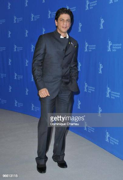 Actor Shah Rukh Khan attends the 'My Name Is Khan' Photocall during day two of the 60th Berlin International Film Festival at the Grand Hyatt Hotel...