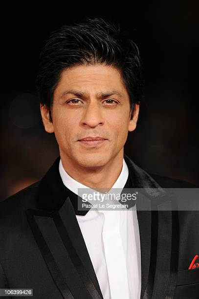 Actor Shah Rukh Khan attends the 'My Name Is Khan' premiere during the 5th International Rome Film Festival at Auditorium Parco Della Musica on...