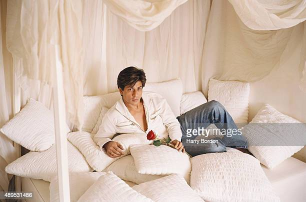 Actor Shah Rukh Khan is photographed for Time International on August 26 2004 in London England