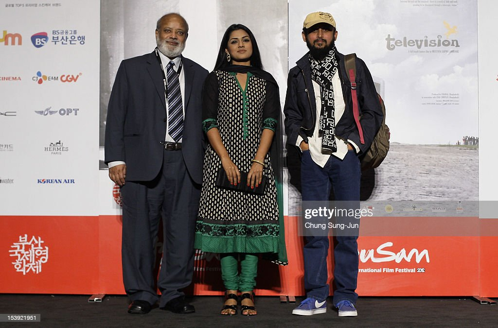 Actor Shahir Kazi Huda, actress Nusrat Imrose Tisha and director Mostofa Farooki attend a Closing Film 'Television' Press Conference during the 17th Busan International Film Festival (BIFF) at Busan Cinema Center on October 11, 2012 in Busan, South Korea. The biggest film festival in Asia showcases 304 films from 75 countries and runs from October 4-13.