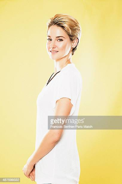 Actor Shailene Woodley is photographed for Paris Match on October 3 2014 in Paris France