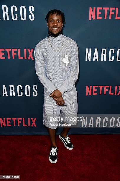 Actor Shameik Moore attends the Premiere of Netflix's 'Narcos' Season 2 at ArcLight Cinemas on August 24 2016 in Hollywood California