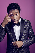 Actor Shameik Moore poses for a portrait during the 47th NAACP Image Awards presented by TV One at Pasadena Civic Auditorium on February 5 2016 in...