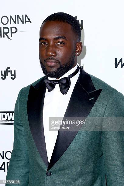Actor Shamier Anderson attends the premiere of Syfy's 'Wynonna Earp' at WonderCon 2016 at Regal LA Live Stadium 14 on March 26 2016 in Los Angeles...