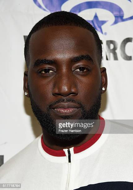 Actor Shamier Anderson attends the Wynonna Earp panel at WonderCon 2016 Day 2 at Los Angeles Convention Center on March 26 2016 in Los Angeles...