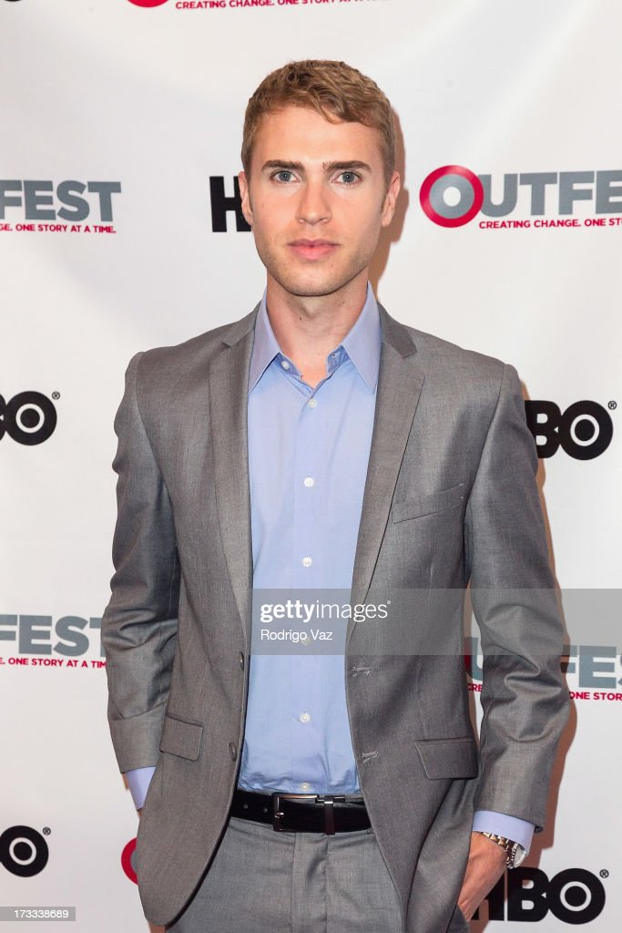 Actor Shane Bitney Crone arrives at the 13th Annual Outfest Opening Night Gala Of 'C.O.G.' at Orpheum Theatre on July 11, 2013 in Los Angeles, California.