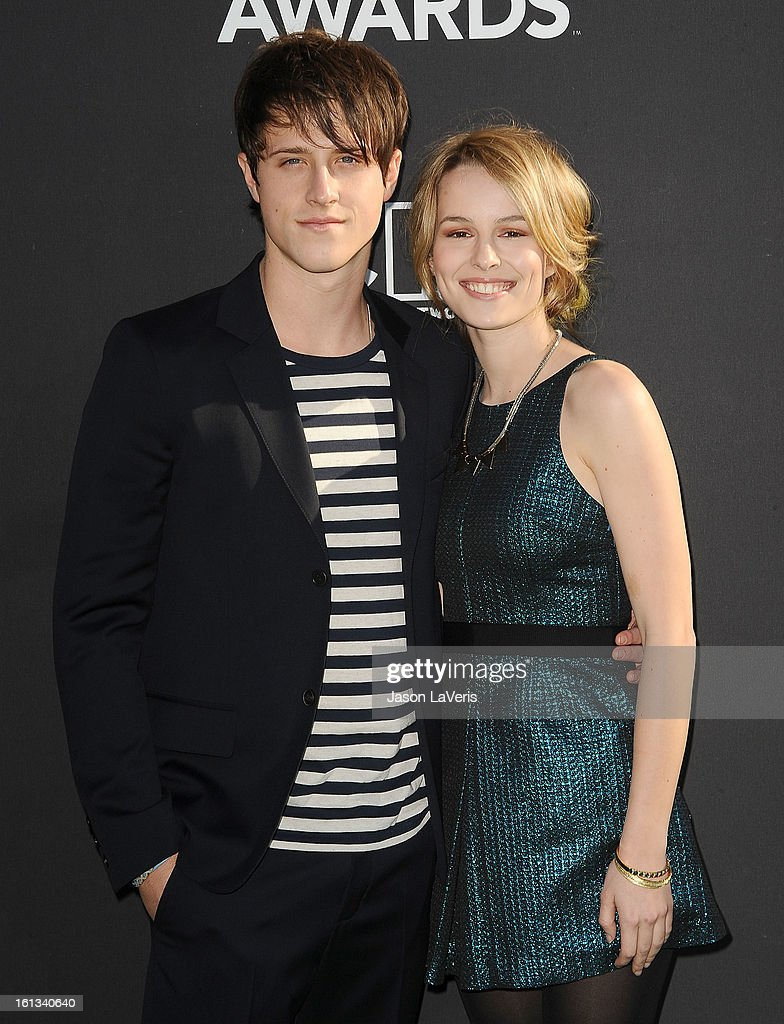 Actor Shane Harper and actress Bridgit Mendler attend the Cartoon Network 3rd annual Hall Of Game Awards at Barker Hangar on February 9, 2013 in Santa Monica, California.