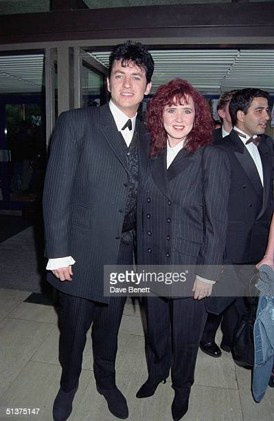 TV actor Shane Richie and his wife Coleen Nolan at the UK National Television Awards in Wembley Arena 29th August 1995