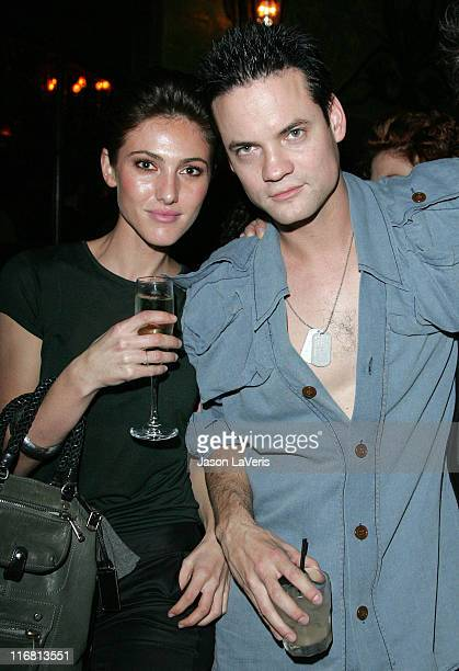 Actor Shane West and guest at the Kubler LA Launch Party at Green Door on November 14 2007 in Hollywood California