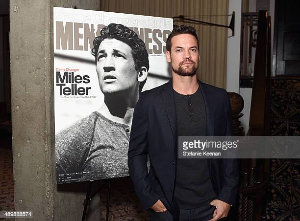 Actor Shane West attends MEN'S FITNESS Celebration of The 2015 Game Changers on September 24 2015 in West Hollywood California