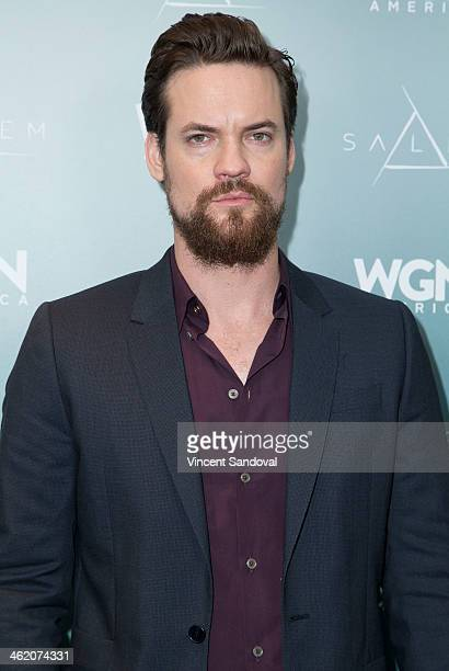 Actor Shane West attends WGN America presents 'SALEM' at the 2014 Winter TCA's at The Langham Huntington Hotel and Spa on January 12 2014 in Pasadena...