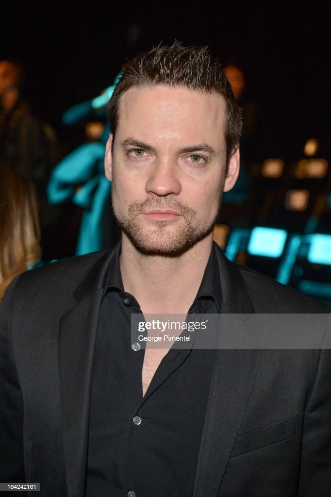Actor Shane West attends World MasterCard Fashion Week Fall 2013 at David Pecaut Square on March 21, 2013 in Toronto, Canada.