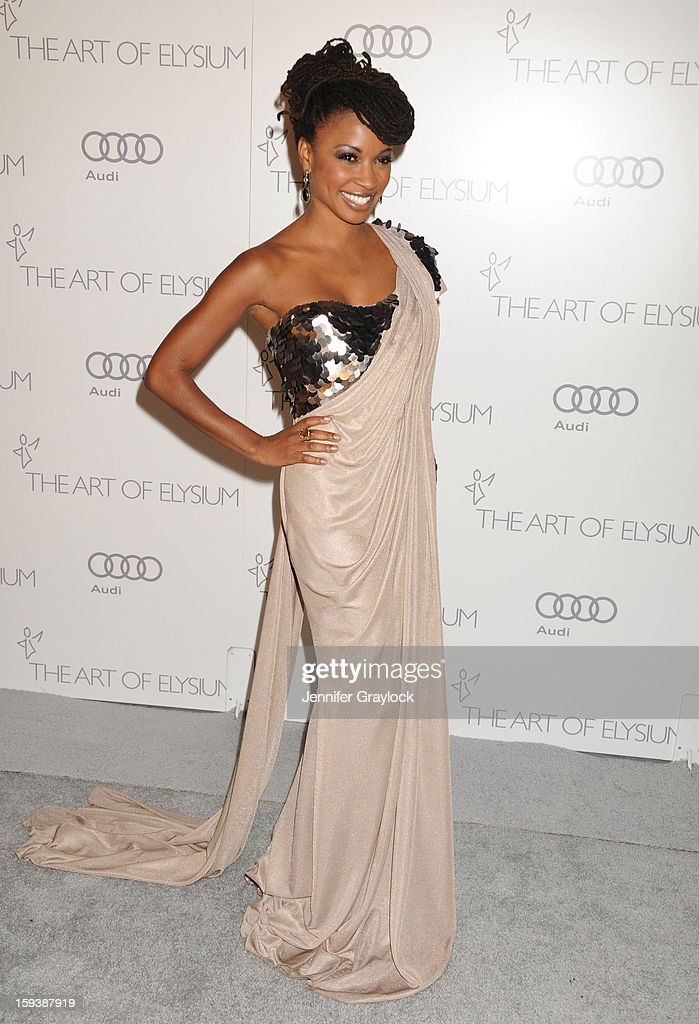 Actor Shanola Hampton attends the Art Of Elysium's 6th Annual Heaven Gala held at the 2nd Street Tunnel on Saturday, January 12, 2013 in Los Angeles, California.