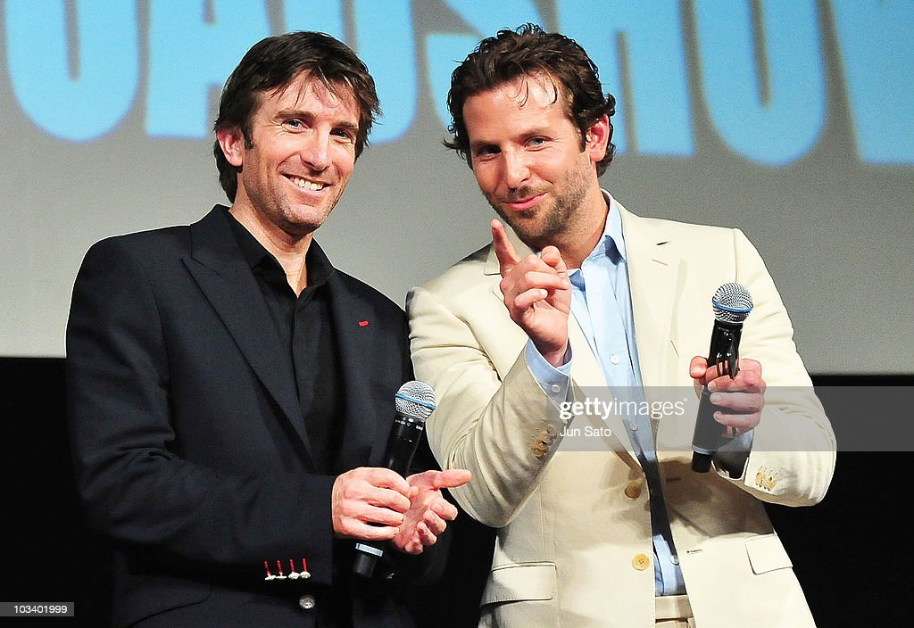 Actor Sharlto Copley and Bradley Cooper arrive at 'The ATeam' movie premiere on August 16 2010 in Tokyo Japan The film will open on August 20 in Japan