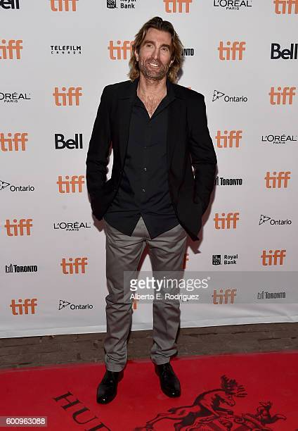 Actor Sharlto Copley attends the 'Free Fire' premiere screening party hosted by Bulleit at Early Mercy on September 8 2016 in Toronto Canada