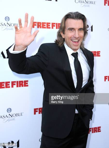 Actor Sharlto Copley attends the premiere of A24's' 'Free Fire' at ArcLight Hollywood on April 13 2017 in Hollywood California