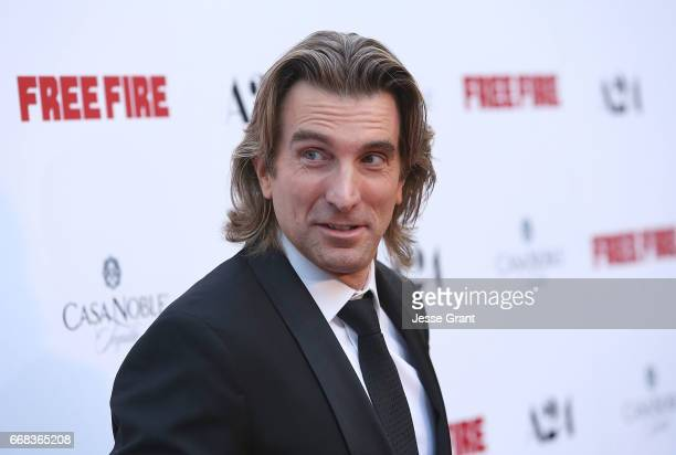 Actor Sharlto Copley attends the premiere of A24's 'Free Fire' at ArcLight Hollywood on April 13 2017 in Hollywood California