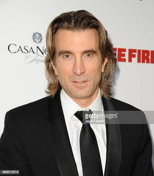Actor Sharlto Copley attends the premiere of 'Free Fire' at ArcLight Hollywood on April 13 2017 in Hollywood California
