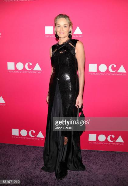 Actor Sharon Stone at the MOCA Gala 2017 honoring Jeff Koons at The Geffen Contemporary at MOCA on April 29 2017 in Los Angeles California