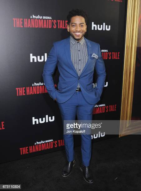 Actor Shaun Brown arrives at the premiere of Hulu's 'The Handmaid's Tale' at ArcLight Cinemas Cinerama Dome on April 25 2017 in Hollywood California