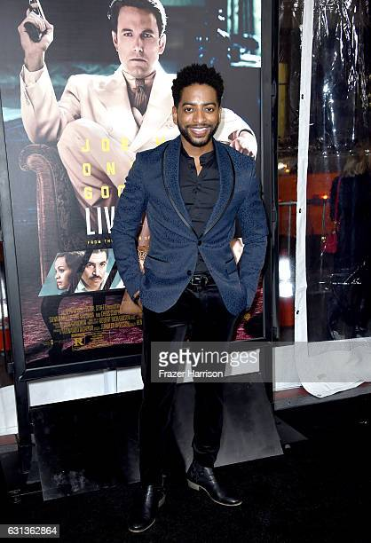 Actor Shaun Brown attends the premiere of Warner Bros Pictures' 'Live By Night' at TCL Chinese Theatre on January 9 2017 in Hollywood California