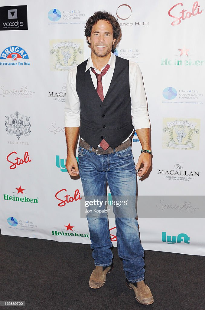 Actor <a gi-track='captionPersonalityLinkClicked' href=/galleries/search?phrase=Shawn+Christian&family=editorial&specificpeople=984129 ng-click='$event.stopPropagation()'>Shawn Christian</a> arrives at the 2nd Annual Chris4Life Celebrity Auction at SLS Hotel on April 5, 2013 in Beverly Hills, California.
