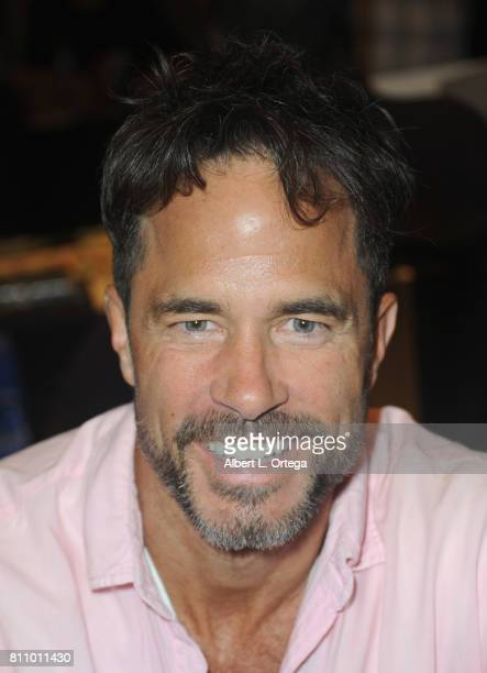 Actor Shawn Christian signs autographs at The Hollywood Show held at Westin LAX Hotel on July 8 2017 in Los Angeles California