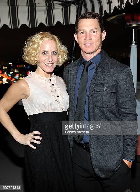 Actor Shawn Hatosy and guest attend A Toast To Regina King Hosted By Revolt Entertainment SnapStyle at Chateau Marmont on January 30 2016 in Los...