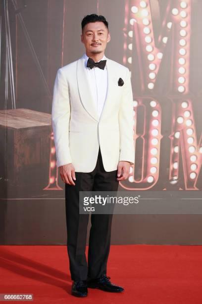 Actor Shawn Yue poses on red carpet of the 36th Hong Kong Film Awards ceremony at Hong Kong Cultural Centre on April 9 2017 in Hong Kong China