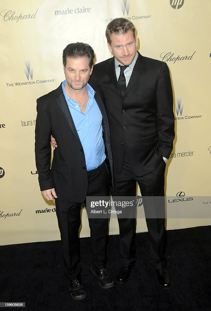 Actor Shea Whigham and actor Dash Mihok arrive for the Weinstein Company's 2013 Golden Globe Awards After Party - Arrivals on January 13, 2013 in Beverly Hills, California.