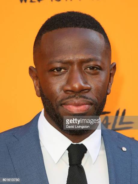 Actor Sheaun McKinney attends the premiere of FX's 'Snowfall' at The Theatre at Ace Hotel on June 26 2017 in Los Angeles California