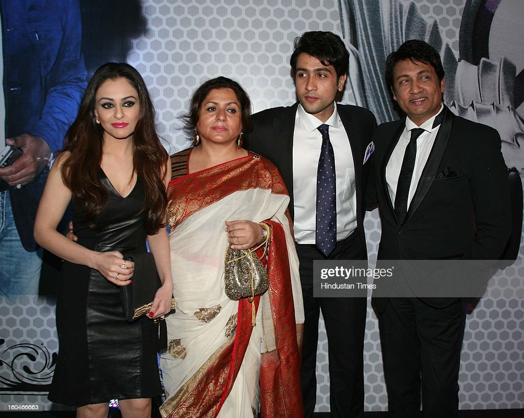 Actor Shekhar Suman with his wife Alka and son Adhyayan Suman during Global Sound of Peace Concert and Album Launch at Andhery Sports Complex on January 30, 2013 Mumbai, India.