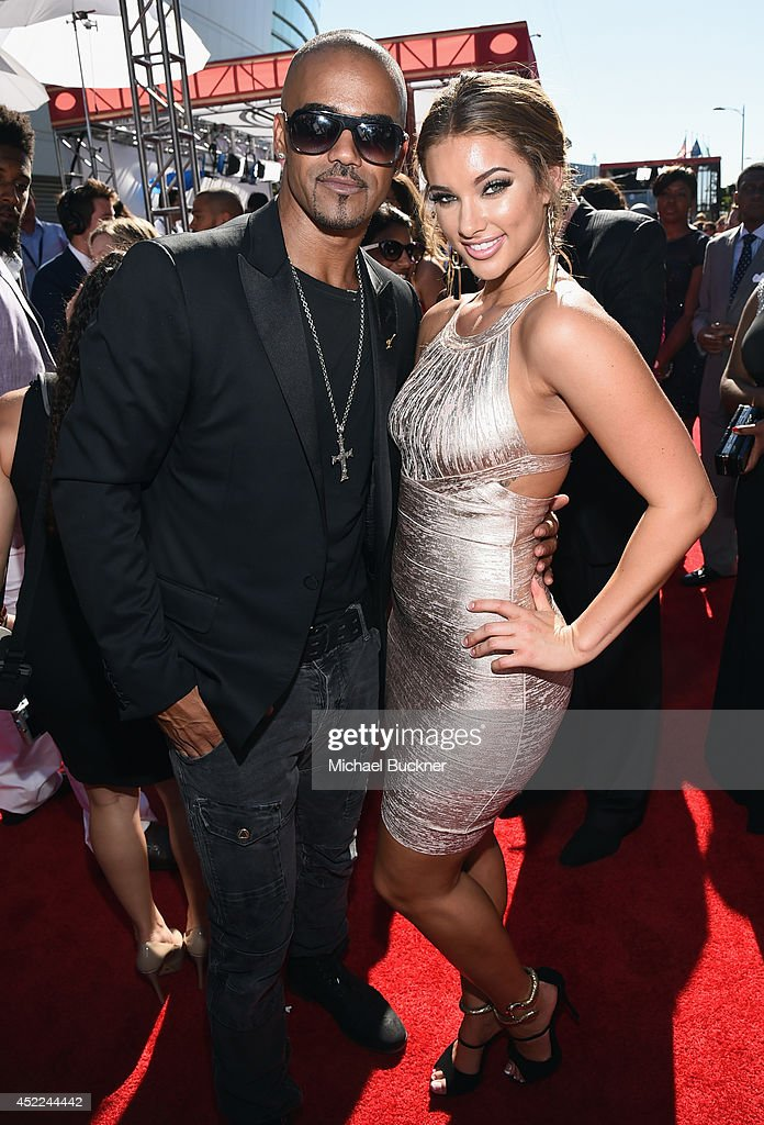 Actor <a gi-track='captionPersonalityLinkClicked' href=/galleries/search?phrase=Shemar+Moore&family=editorial&specificpeople=615750 ng-click='$event.stopPropagation()'>Shemar Moore</a> (L) and guest attend The 2014 ESPYS at Nokia Theatre L.A. Live on July 16, 2014 in Los Angeles, California.