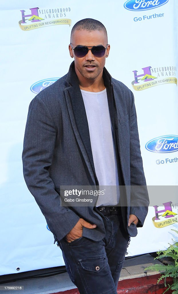 Actor Shemar Moore arrives at the 11th annual Ford Neighborhood Awards at the MGM Grand Garden Arena on August 10, 2013 in Las Vegas, Nevada.