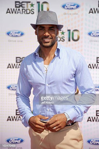 Actor Shemar Moore arrives at the 2010 BET Awards held at the Shrine Auditorium on June 27 2010 in Los Angeles California