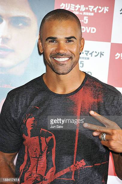 Actor Shemar Moore attends the 'Criminal Minds' DVD launch promotion event at Tsutaya Roppongi on November 19 2011 in Tokyo Japan