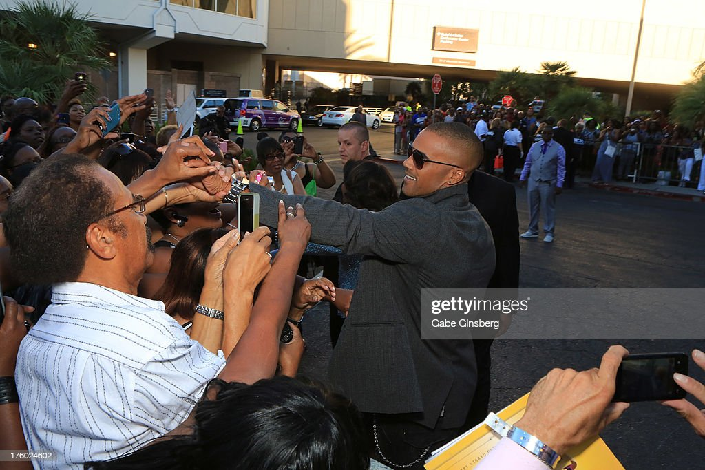 Actor Shemar Moore greets fans at the 11th annual Ford Neighborhood Awards at the MGM Grand Garden Arena on August 10, 2013 in Las Vegas, Nevada.