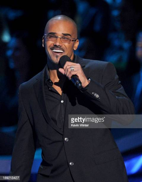 Actor Shemar Moore speaks onstage at the 39th Annual People's Choice Awards at Nokia Theatre LA Live on January 9 2013 in Los Angeles California