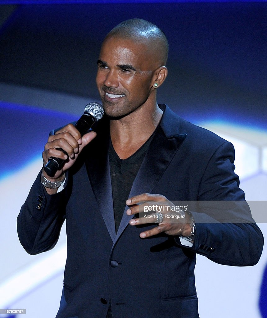 Actor Shemar Moore speaks onstage during the 21st annual Race to Erase MS at the Hyatt Regency Century Plaza on May 2, 2014 in Century City, California.