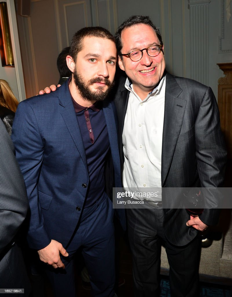 Actor Shia LaBeouf and Co-President of Sony Pictures Classics Michael Barker attend 'The Company You Keep' New York Premiere After Party at Harlow on April 1, 2013 in New York City.