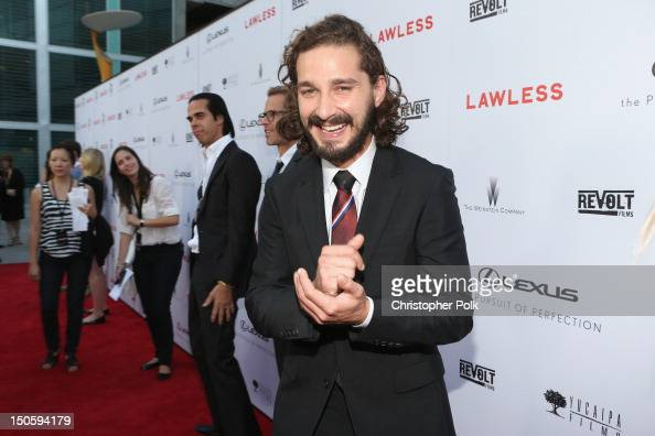 Actor Shia LaBeouf arrives at the premiere of The Weinstein Company's 'Lawless' held at ArcLight Cinemas on August 22 2012 in Hollywood California