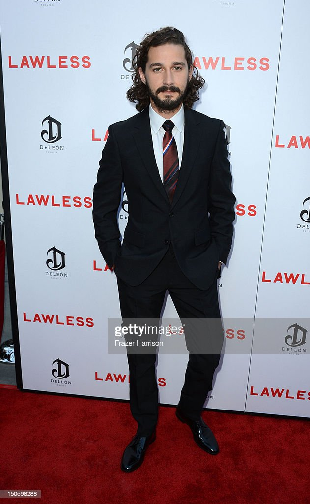 Actor Shia LaBeouf arrives at the Premiere of the Weinstein Company's 'Lawless' at ArcLight Cinemas on August 22, 2012 in Hollywood, California.