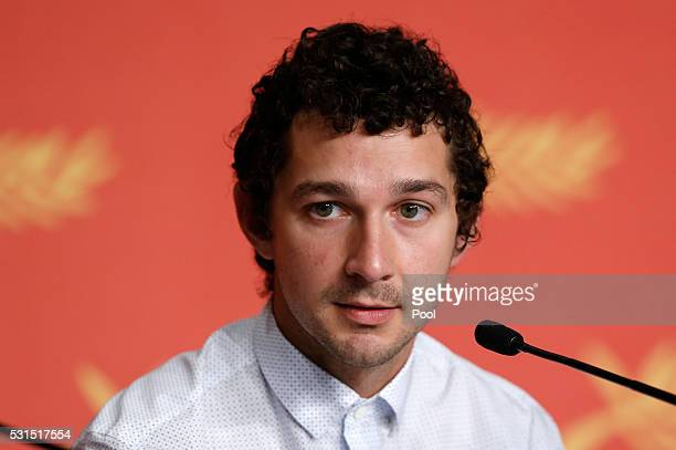 Actor Shia LaBeouf attends the 'American Honey' press conference during the 69th annual Cannes Film Festival at the Palais des Festivals on May 15...