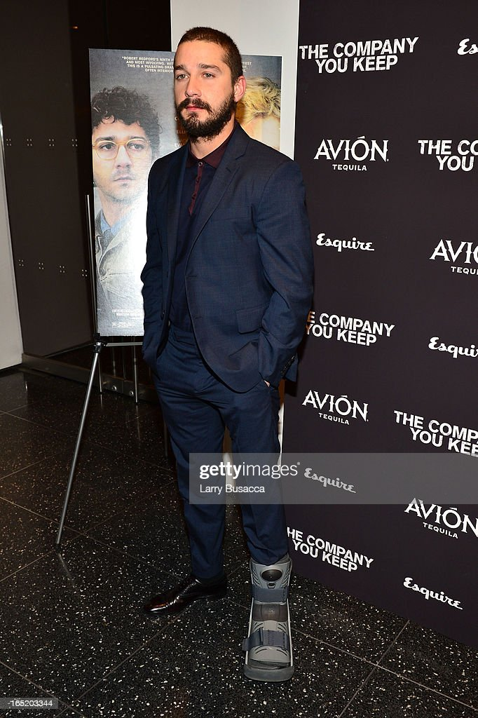 Actor Shia LaBeouf attends 'The Company You Keep' New York Premiere at The Museum of Modern Art on April 1, 2013 in New York City.