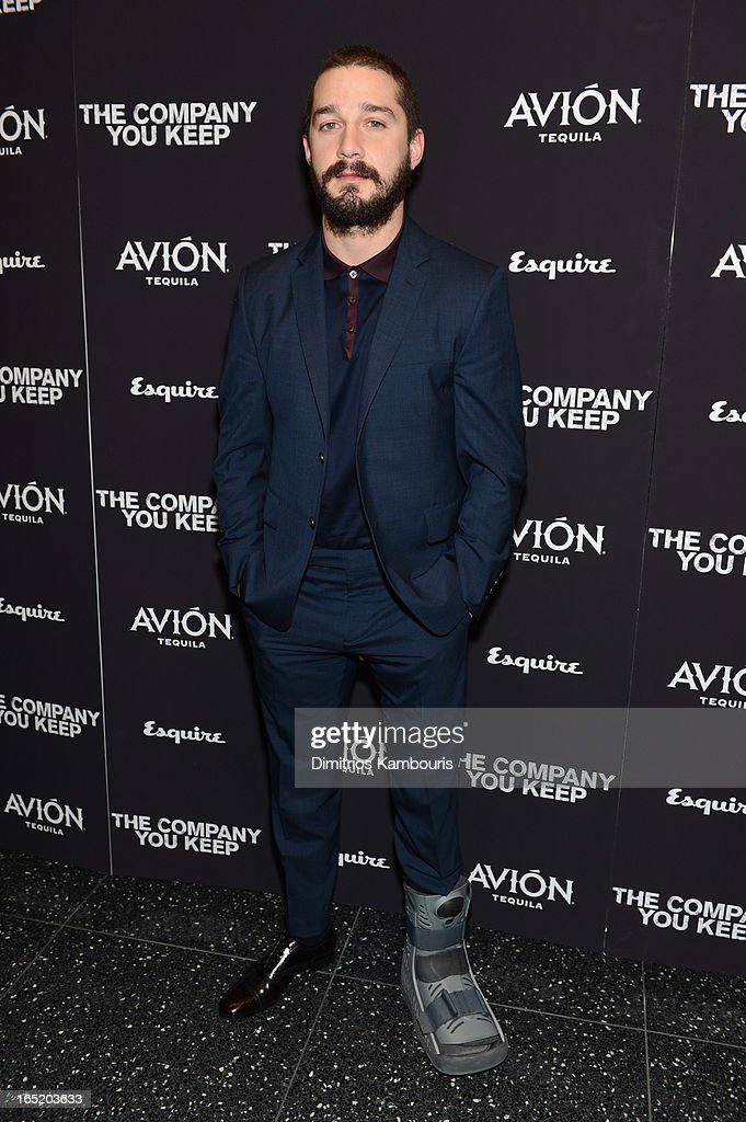 Actor Shia LaBeouf attends 'The Company You Keep' New York Premiere at MOMA on April 1 2013 in New York City
