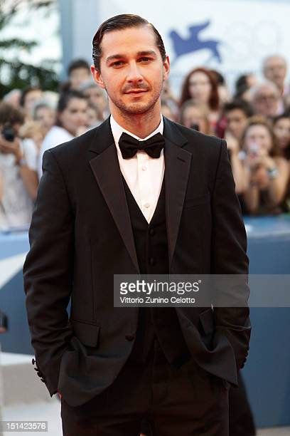 Actor Shia LaBeouf attends 'The Company You Keep' Premiere at the 69th Venice Film Festival on September 6 2012 in Venice Italy